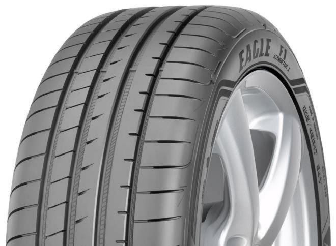 Goodyear Eagle F1 Asymmetric 3 / Fuel Efficiency: E, Wet Grip: A, Ext. Rolling Noise: 68db, Rolling Noise Class: A